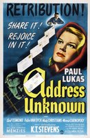 Address Unknown movie poster (1944) picture MOV_c189bec1