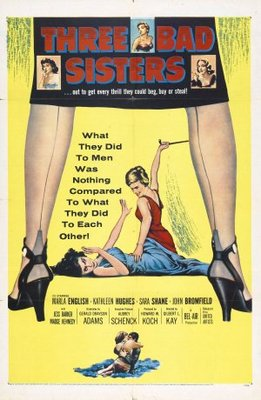 Three Bad Sisters movie poster (1956) poster MOV_c2557f55
