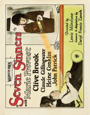 Seven Sinners movie poster (1925) poster MOV_c257fb6f