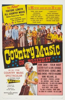Country Music on Broadway movie poster (1965) poster MOV_c46ea52c