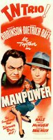 Manpower movie poster (1941) picture MOV_c887f383