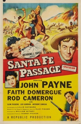 Santa Fe Passage movie poster (1955) poster MOV_ccfc387b