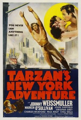 Tarzan's New York Adventure movie poster (1942) poster MOV_d1d5cfb1