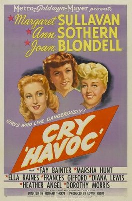 Cry 'Havoc' movie poster (1943) poster MOV_d4e646dd