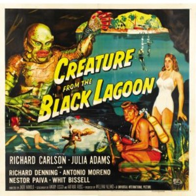 Creature from the Black Lagoon movie poster (1954) poster MOV_d6655fc5