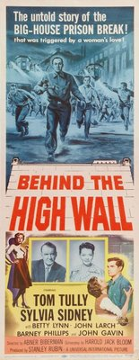 Behind the High Wall movie poster (1956) poster MOV_d81cbd49