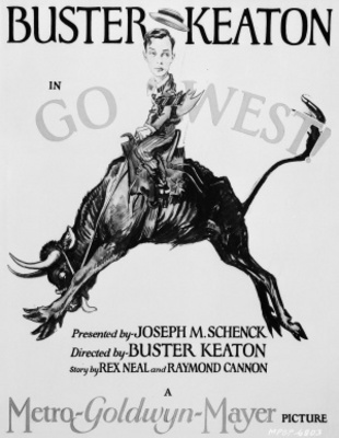 Go West movie poster (1925) poster MOV_d8f84887