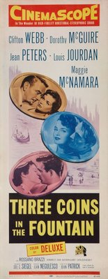 Three Coins in the Fountain movie poster (1954) poster MOV_d8f9e6a4