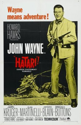 Hatari! movie poster (1962) poster MOV_db7c400a