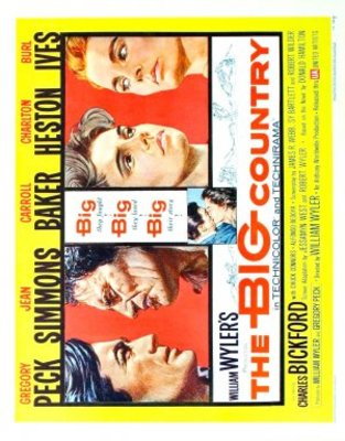 The Big Country movie poster (1958) poster MOV_dba350ac