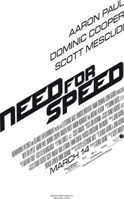 Need for Speed movie poster (2014) poster MOV_dd0fdda8