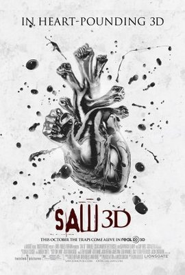 Saw 3D movie poster (2010) poster MOV_ddbaa7ad