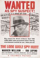 The Lone Wolf Spy Hunt movie poster (1939) picture MOV_dfb2d3d1