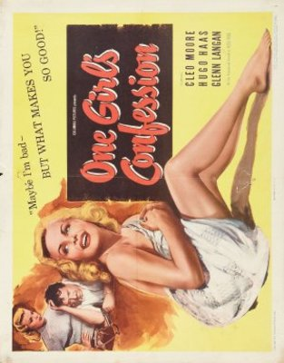 One Girl's Confession movie poster (1953) poster MOV_e11b46c3