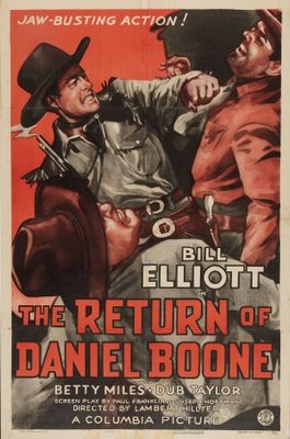 The Return of Daniel Boone movie poster (1941) poster MOV_e8aa0929