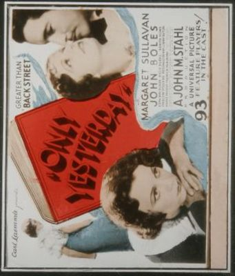 Only Yesterday movie poster (1933) poster MOV_e8f3c62d