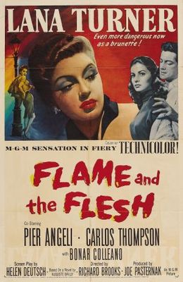 Flame and the Flesh movie poster (1954) poster MOV_eb2222a1