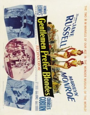 Gentlemen Prefer Blondes movie poster (1953) poster MOV_ec3e058d