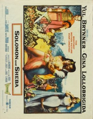 Solomon and Sheba movie poster (1959) poster MOV_ee71098b