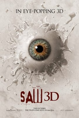 Saw 3D movie poster (2010) poster MOV_ef4b773a