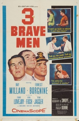 Three Brave Men movie poster (1956) poster MOV_f131d903