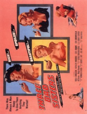Three Bad Sisters movie poster (1956) poster MOV_f160e860