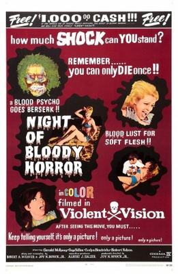 Night of Bloody Horror movie poster (1969) poster MOV_f32c20b0