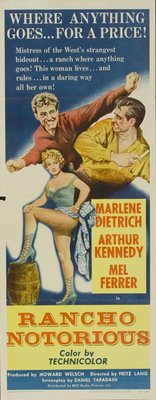 Rancho Notorious movie poster (1952) poster MOV_f35a52ce