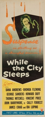 While the City Sleeps movie poster (1956) poster MOV_f36908fc