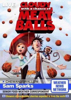 Cloudy with a Chance of Meatballs movie poster (2009) poster MOV_f3afb835
