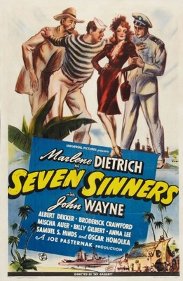 Seven Sinners movie poster (1940) poster MOV_f5987db6