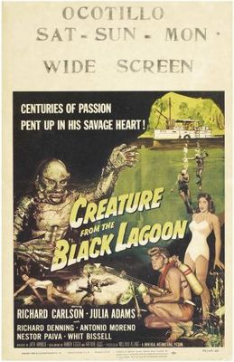 Creature from the Black Lagoon movie poster (1954) poster MOV_fc033ba2