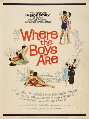 where the boys are movie poster 1960 poster buy where the boys are movie poster 1960. Black Bedroom Furniture Sets. Home Design Ideas