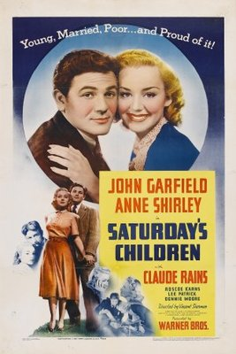 Saturday's Children movie poster (1940) poster MOV_fe86db6f