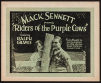 Riders of the Purple Cows movie poster (1924) picture MOV_2f6aa045