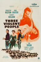 Three Violent People movie poster (1957) picture MOV_mhgtzcae